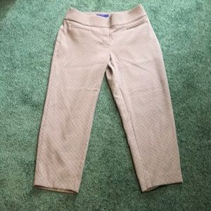 Pants size 10,beige and black stretchy. Nice!
